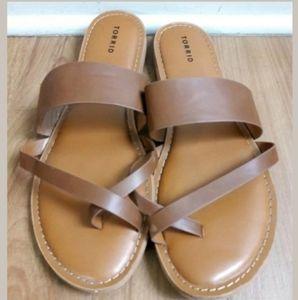 Torrid Faux Leather Sandals Women's Size 11.5W